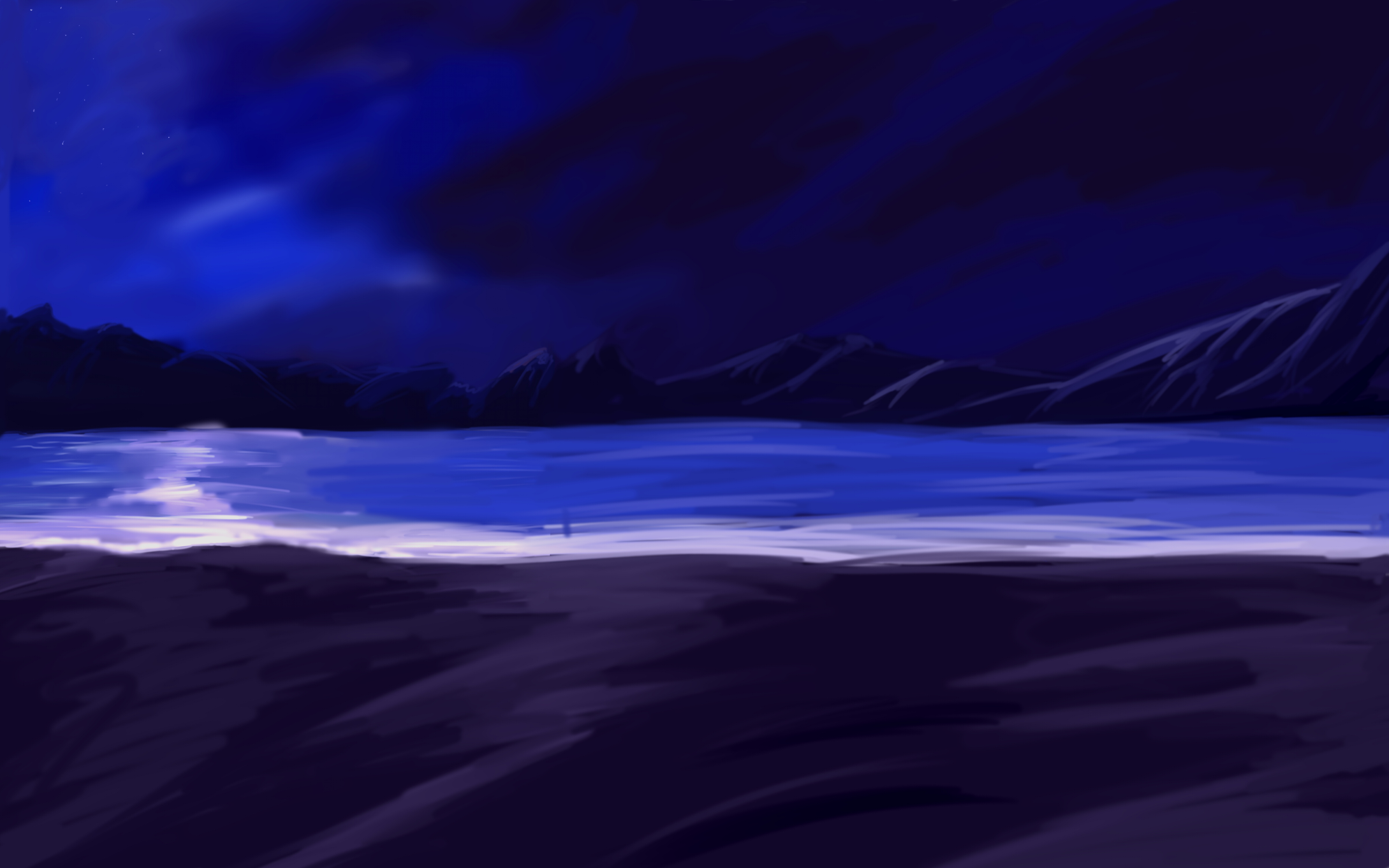 Another Anime Night Beach BG by wbd on DeviantArt