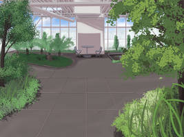 Indoor Garden Background- Anime Style by wbd