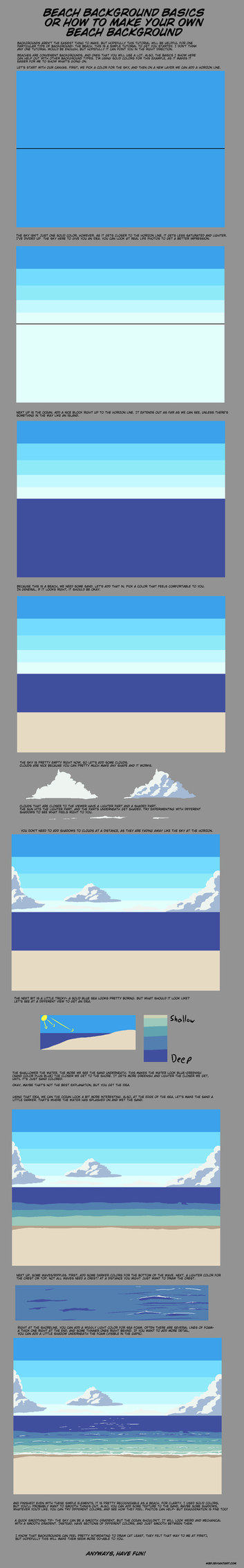Making a Beach Background Tutorial by wbd