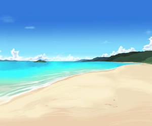 Beach Background Again by wbd