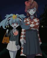 Lily and Yuugiri on Halloween