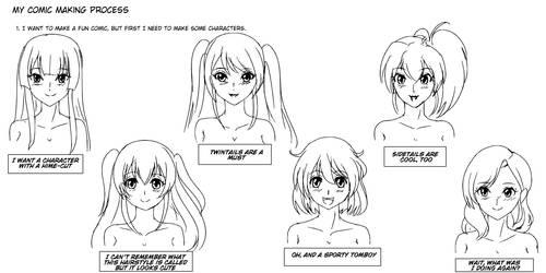 My Comic Making Process by wbd