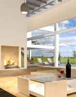 House with fireplace by Agamerswork