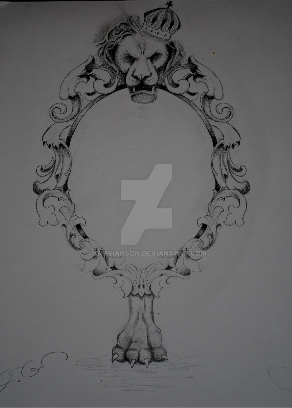 oval frame tattoo design gothic lion frame by krishanson on deviantart