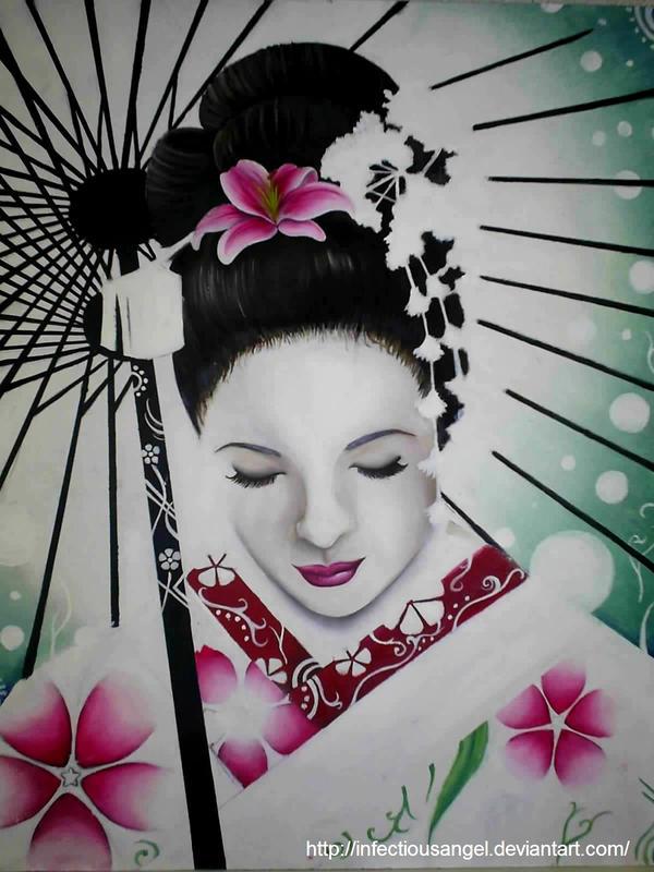 geisha face makeup. how to paint a geisha face