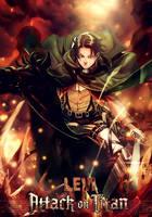 Levi Attack on Titan by YataMirror