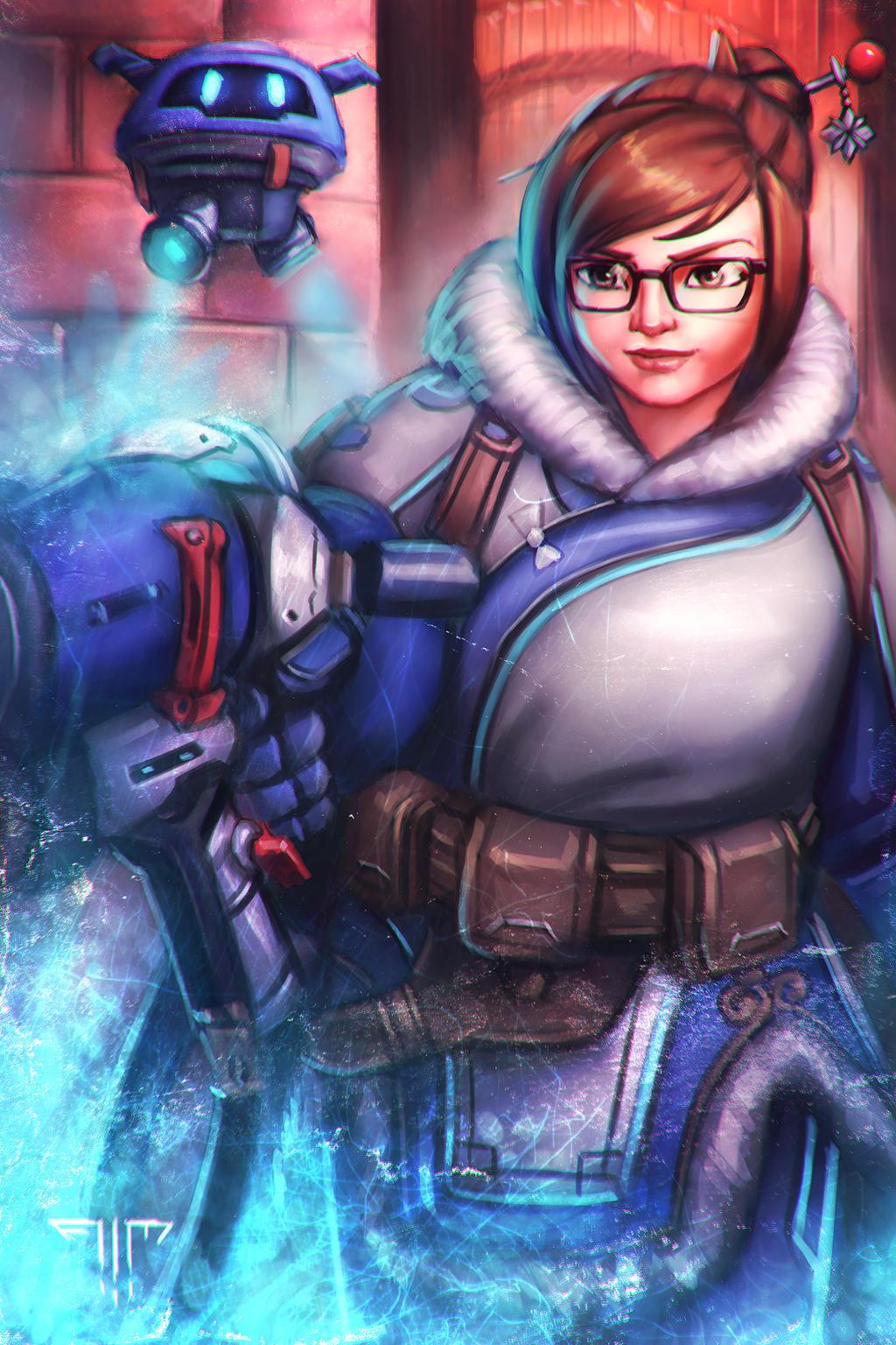 Overwatch mei by aim art on deviantart - Mei wallpaper ...