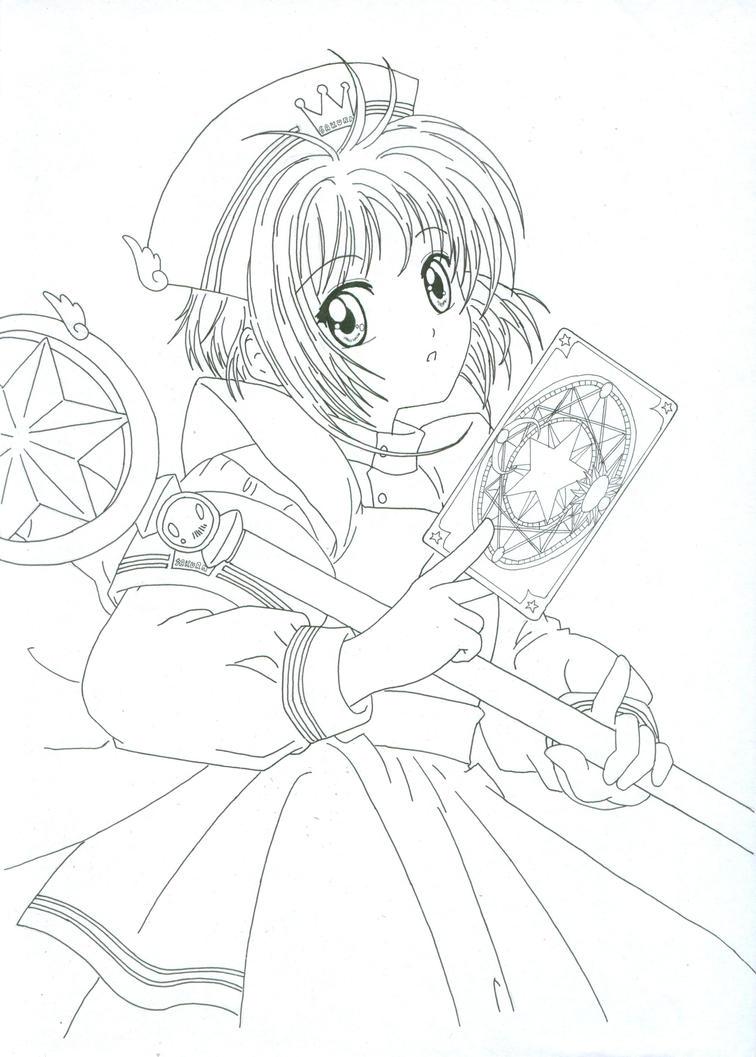 sakura lineart by ronin