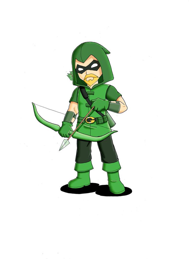 Chibi Justice - Green Arrow by Ronin-errante