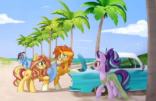 Artist Alley Print #5 - Beach pls by KellyTheDrawingUni