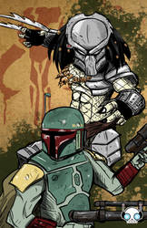 Boba Fett vs Predator by Requiem-Delacroix