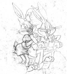 Bugs Bunny and Honey Bunny by HoneyBunnyWB