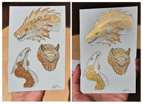 Watercolor dragons 2