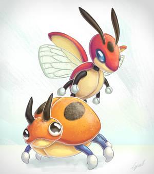 Pokemon: lady bugs