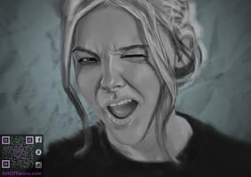 Chloe Grace Moretz Portrait by Infamous-Raven