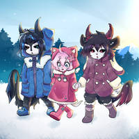 Winter with My Transformice Family by Sunnyaan-peachtea
