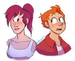 Fry And Leela by RaintheMagpie