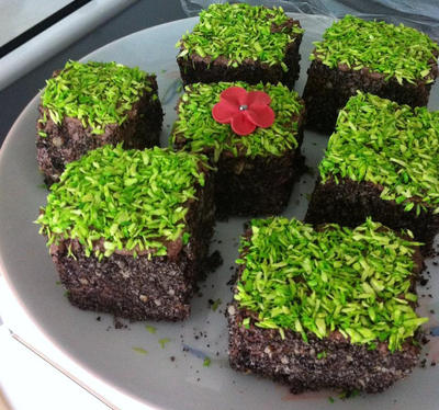 Minecraft Earth Block Chocolate Cakes By Aphilien On Deviantart