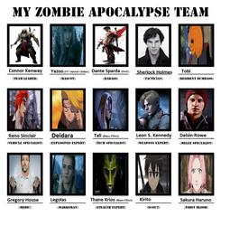 Blayde Yagami's Zombie Apocalypse Team