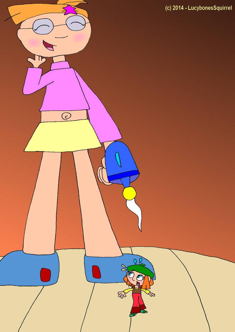 Jasmine shrinks Lucy by ConkerGuru