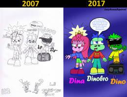 The Dino Trio comparision by ConkerGuru