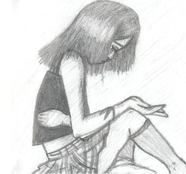 Depressed Girl By X Broken Hearts