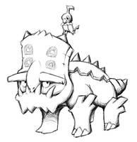 UR Pokemon - Bastiodon, Chatot by Neslug