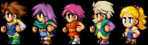 Final Fantasy V - Protagonists PSP Style