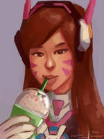 Dva warmup by Krystal-Johnson-Art