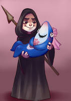 Sharky and palp by Krystal-Johnson-Art