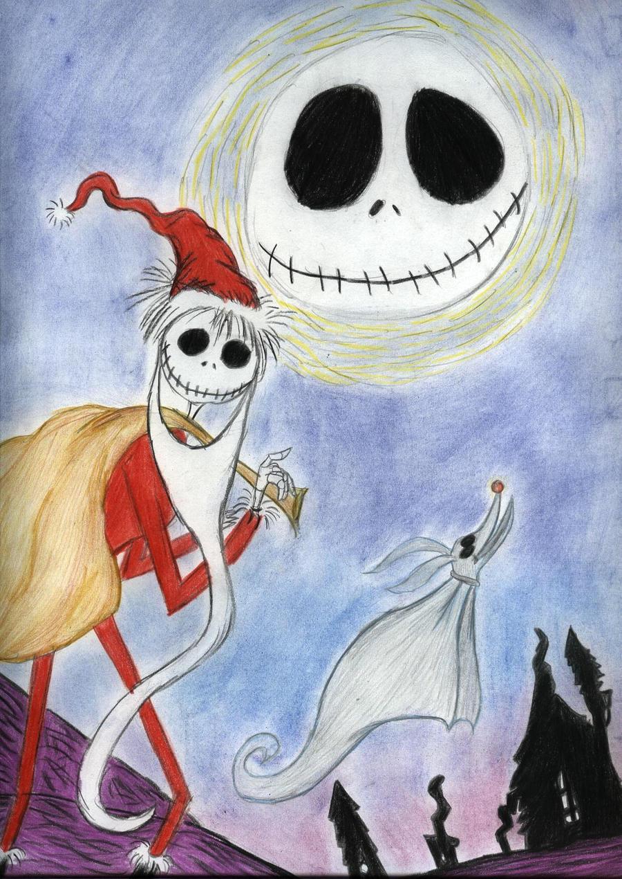 Nightmare Before Christmas Jack Santa Drawing, Nightmare Before ...