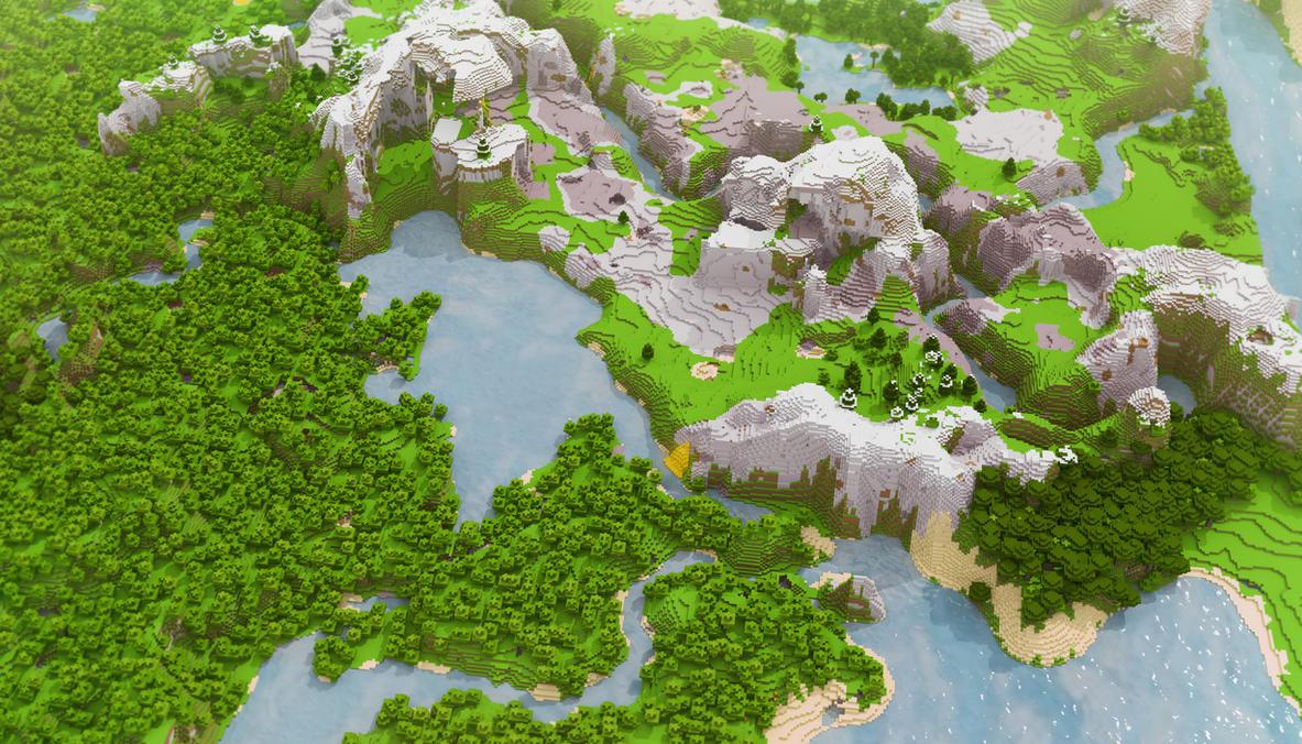 Minecraft: Landscape HD by cuberon