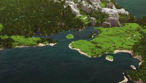 Minecraft: Landscape 2 by cuberon