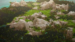 Minecraft Landscape: Mountains