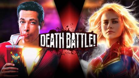 Captain Marvel (Shazam) VS Captain Marvel (Carol) by Darkvader2016