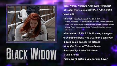 MCU - DEATH BATTLE Black Widow Bio