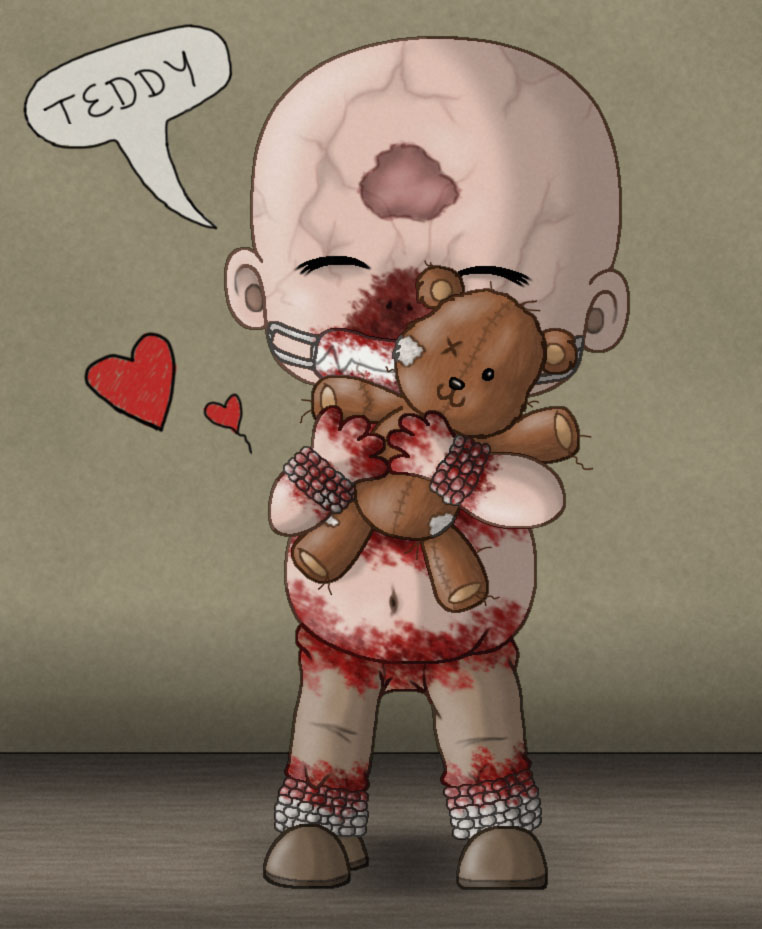 Chibi Chris with teddy - Outlast by manicsfan