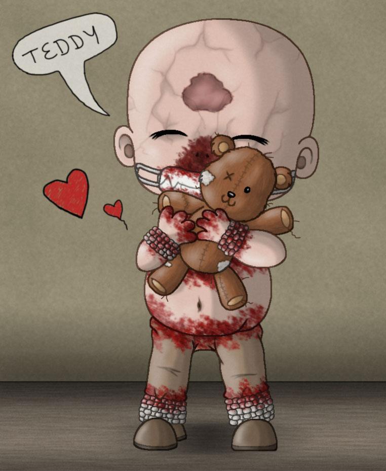 Chibi Chris with teddy - Outlast by manicsfan