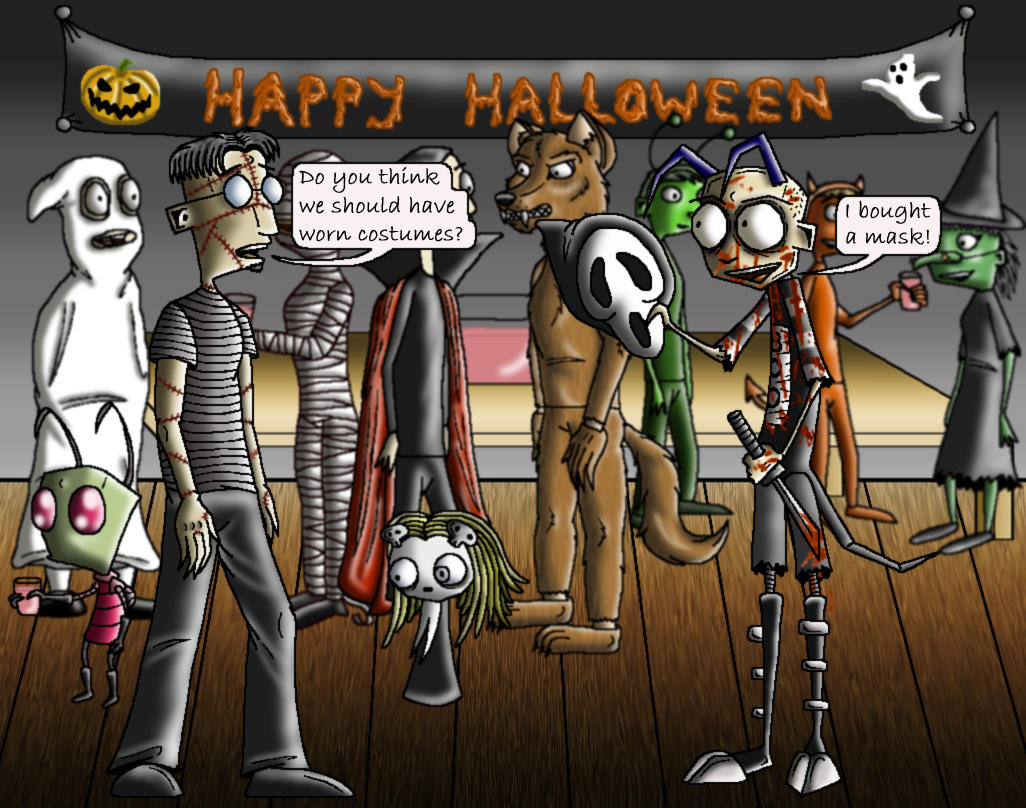 Halloween costume party. by manicsfan on DeviantArt