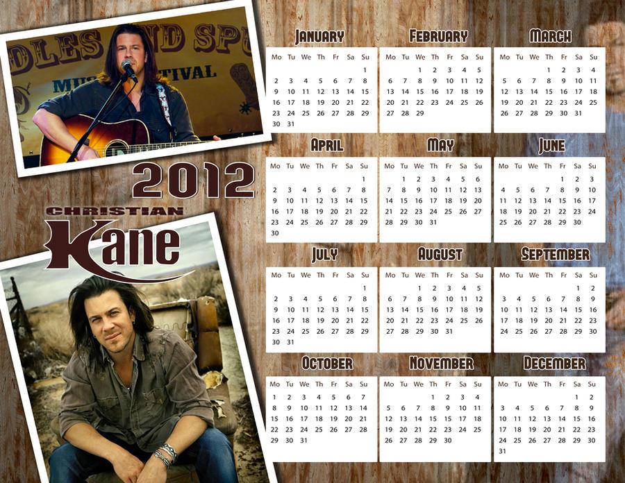 Christian Kane 2012 calendar