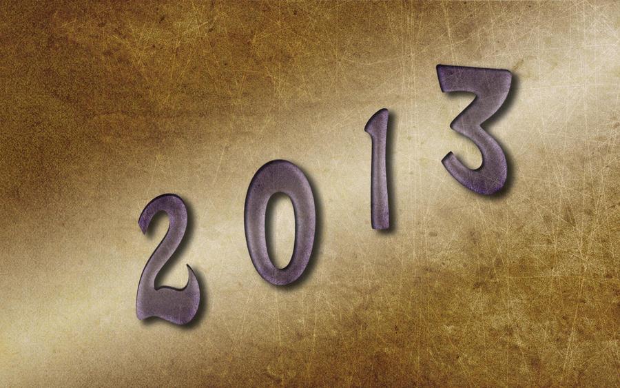 Happy New Year 2013 Wallpaper by whiteroselady