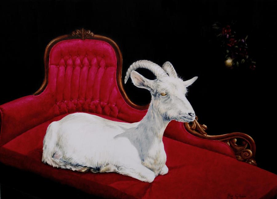 Reclining Goat by secretplanet
