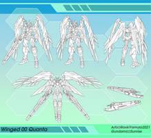 Gundam Custom MS: Winged 00 Quanta