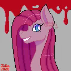 Pinkamena pixel art (2020 redraw) (ver 1) by IrisBlue16