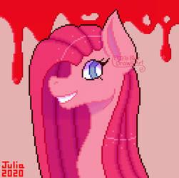 Pinkamena pixel art (2020 redraw) (ver 2) by IrisBlue16