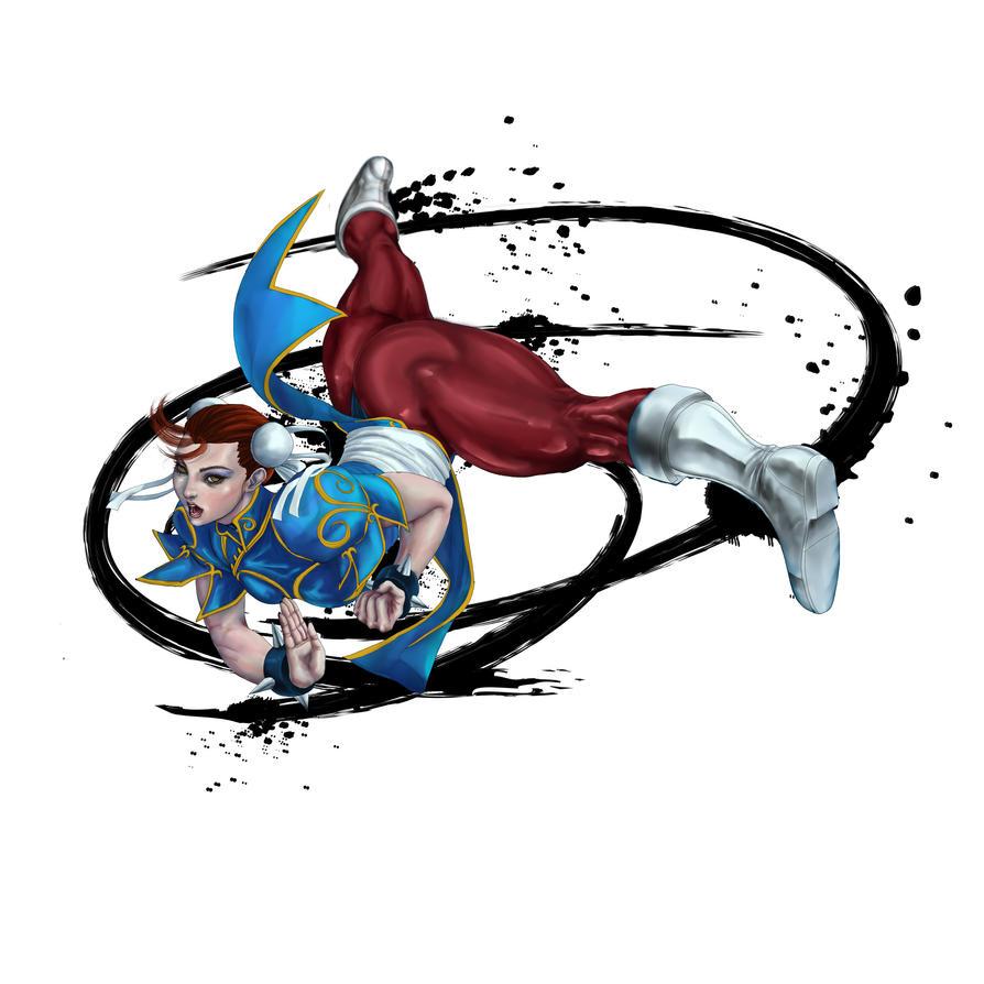 chunli spinning kick by SergioGM
