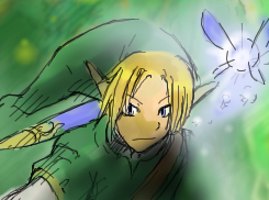 Link in Shi-Painter by HakuryuVision