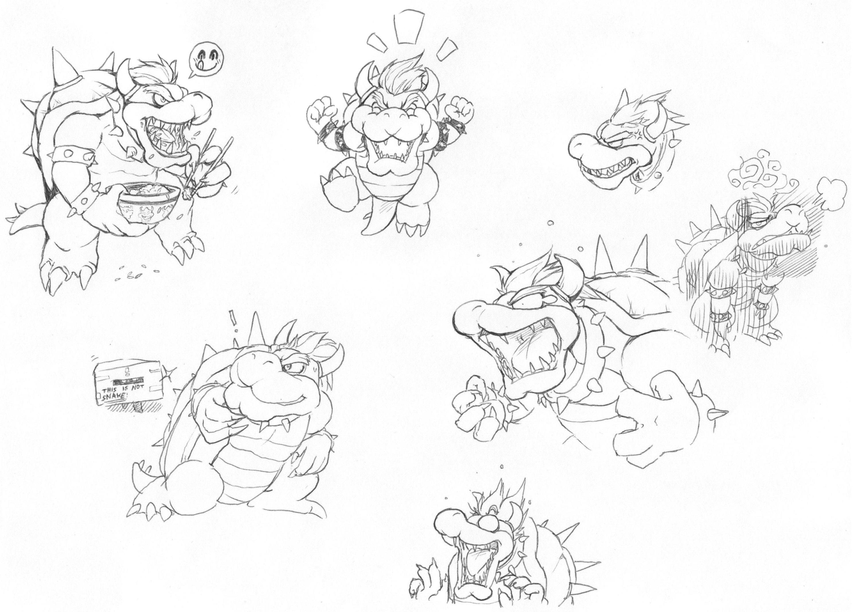 Bowser Doodle by HakuryuVision