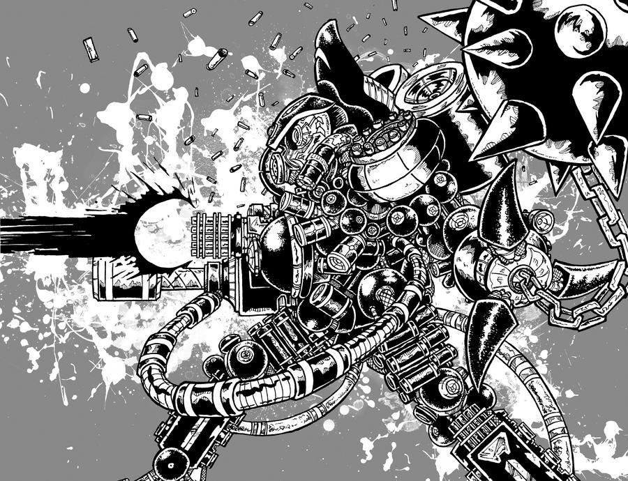 E-Pill's Mecha Commando by ckirkillustr8