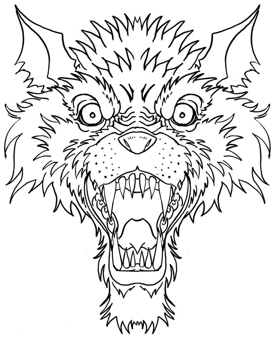 Line Art Wolf Tattoo: Wolves Head By Ckirkillustr8 On DeviantArt